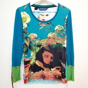 Desigual Sweater Cuff Blouse